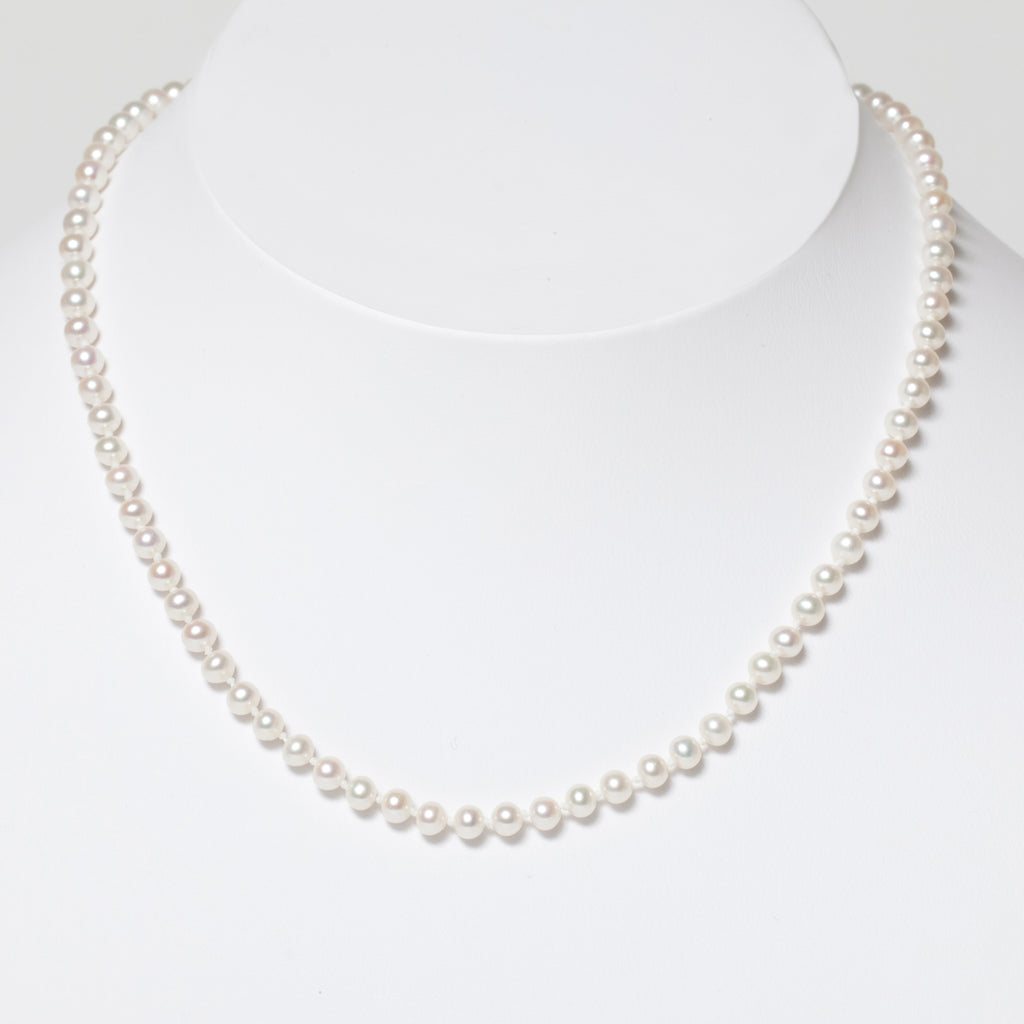Child's White Pearl & Gold Necklace