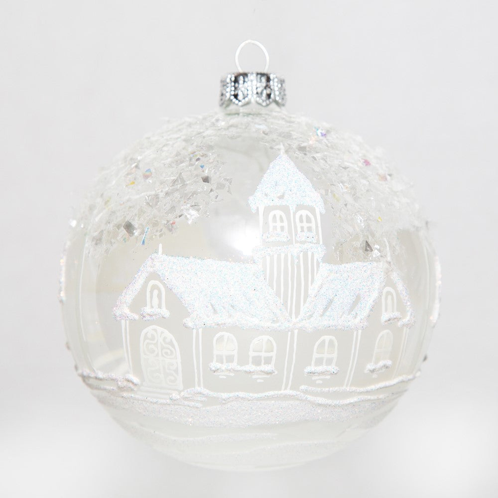 Frosted Village Ornament