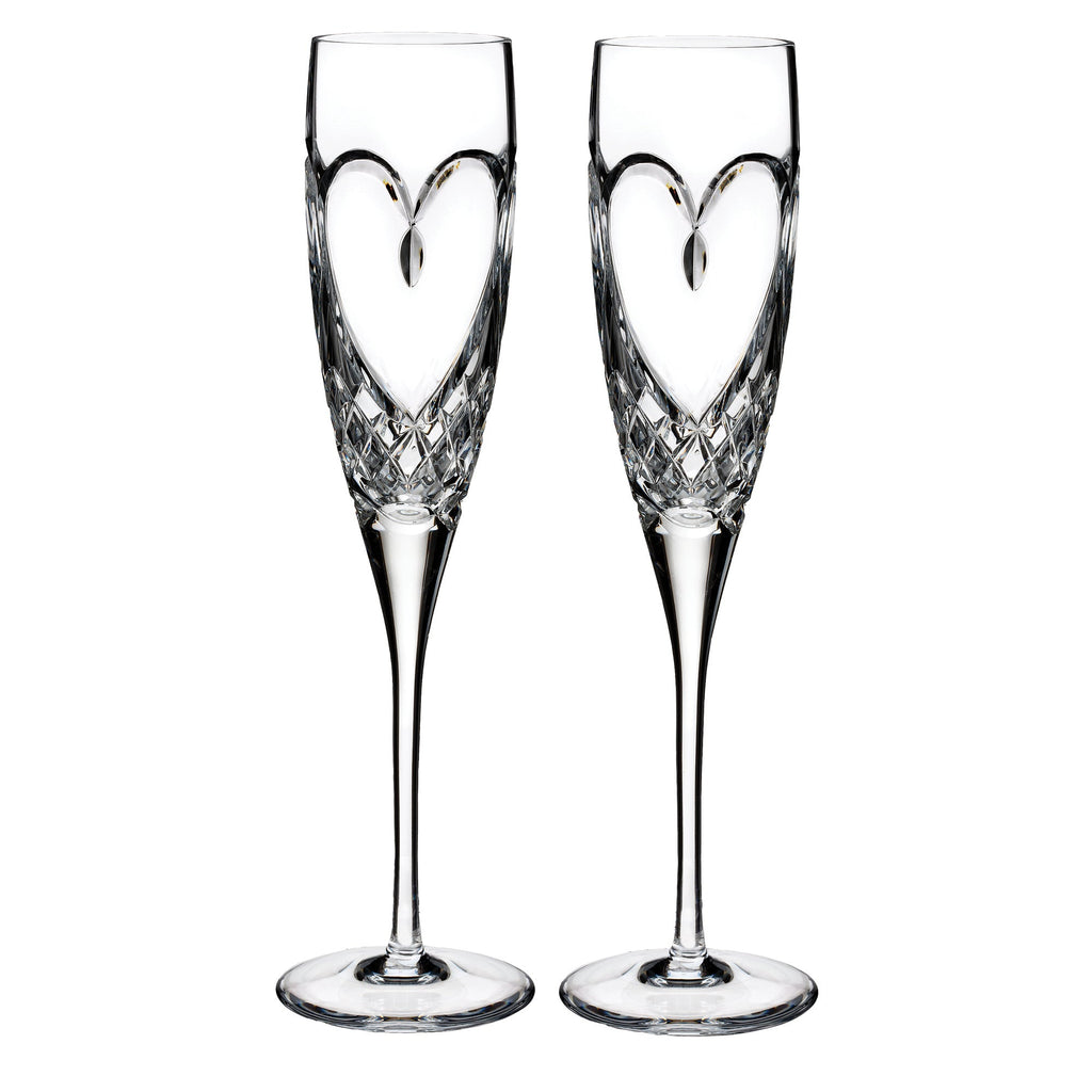 Heart Love Flutes, Set of 2