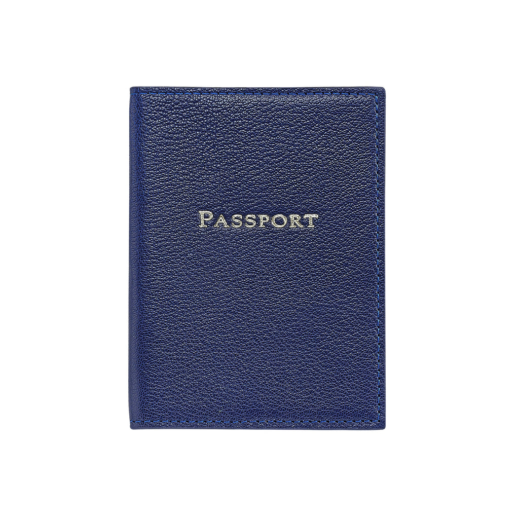 Classic Leather Passport, Indigo