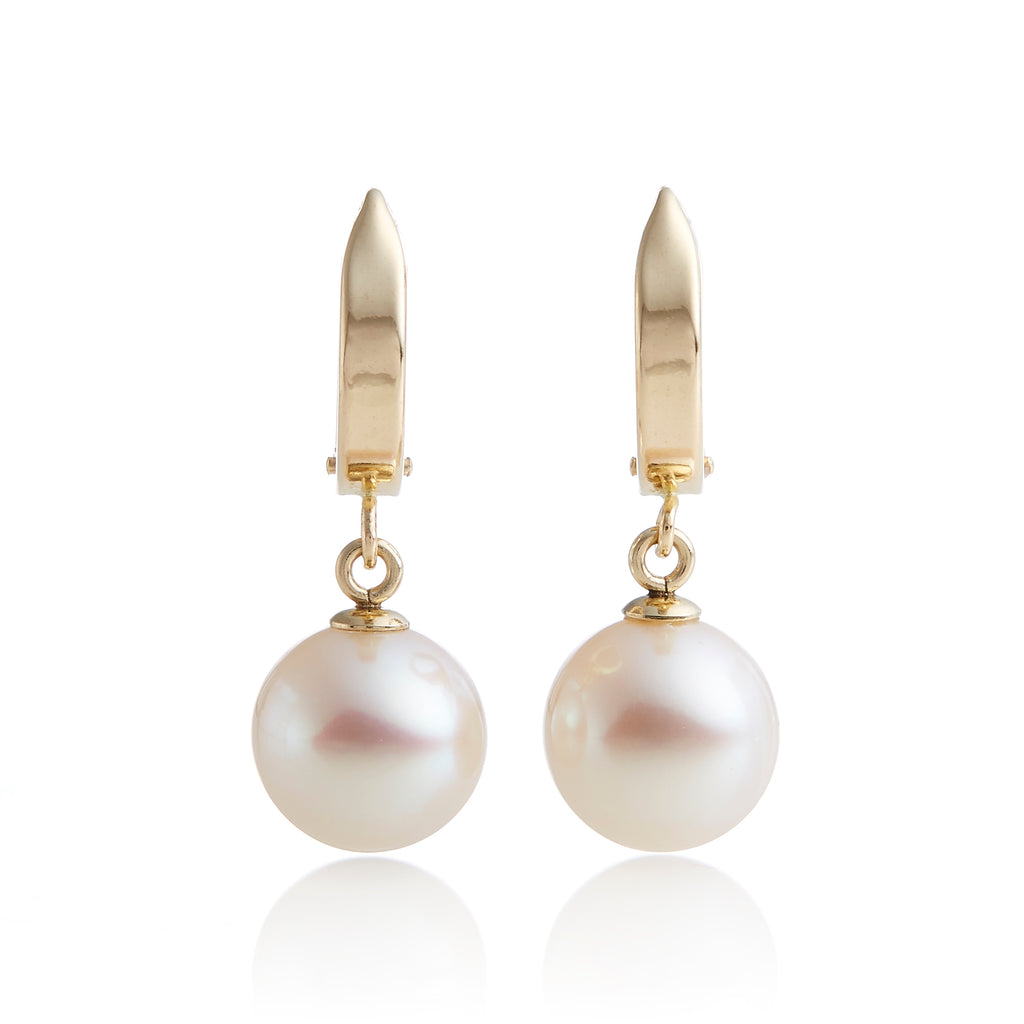 Gold Hoop With Pearl Earrings
