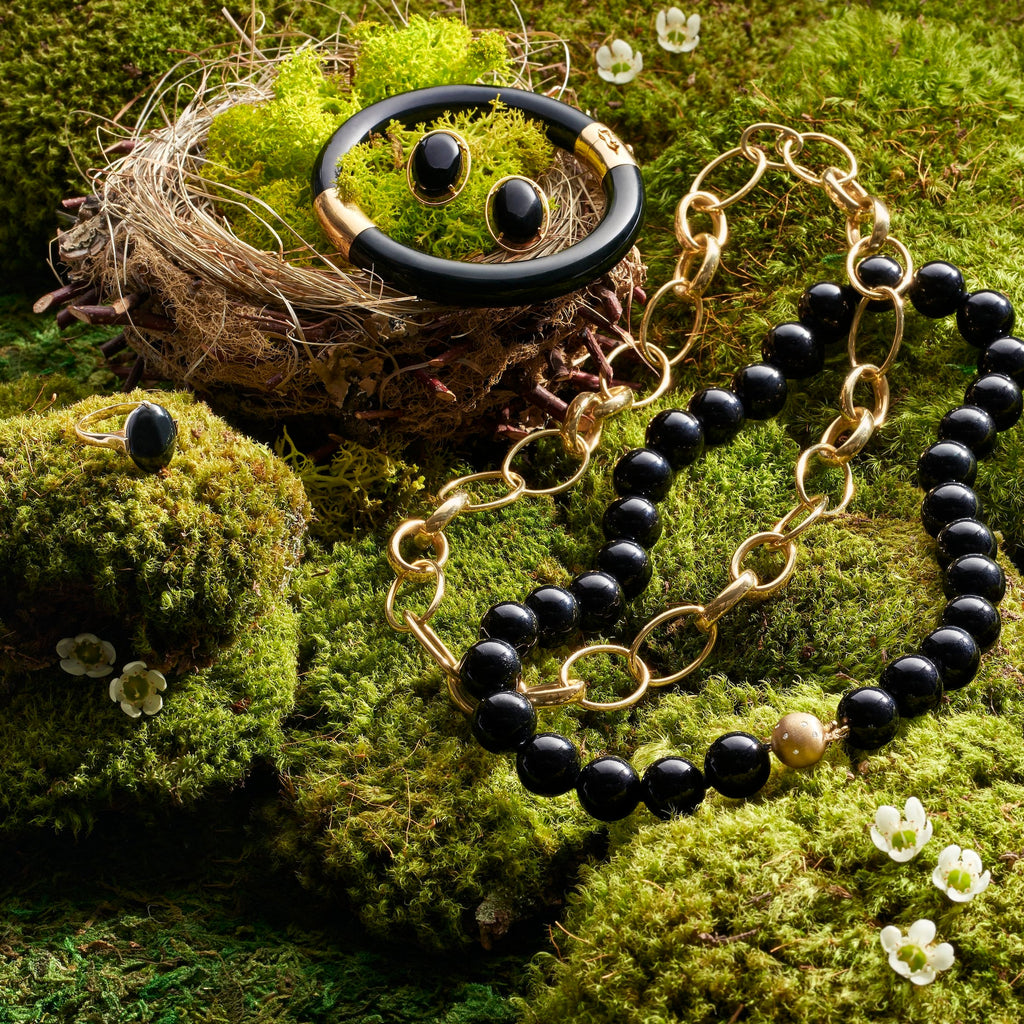 Gold Multi-Oval Link Necklace