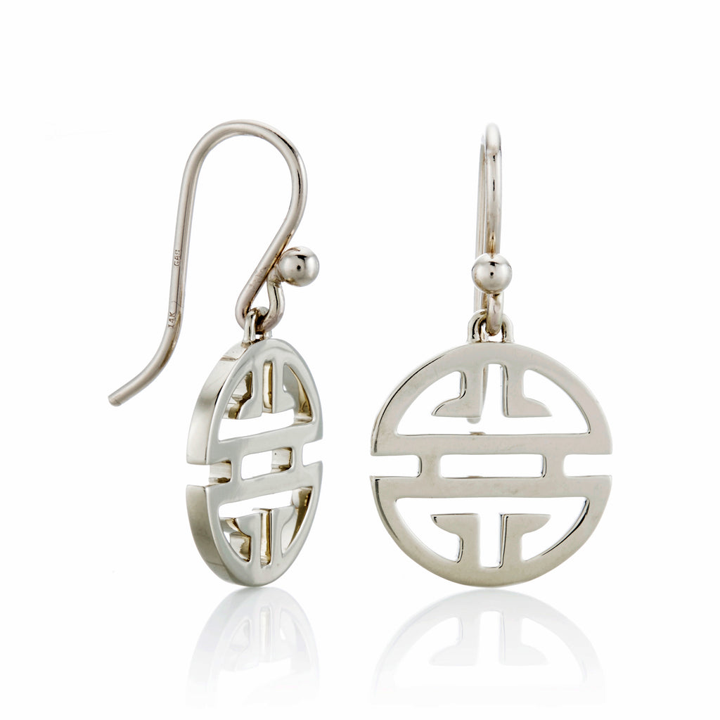 Gump's Signature Silver Shou Drop Earrings