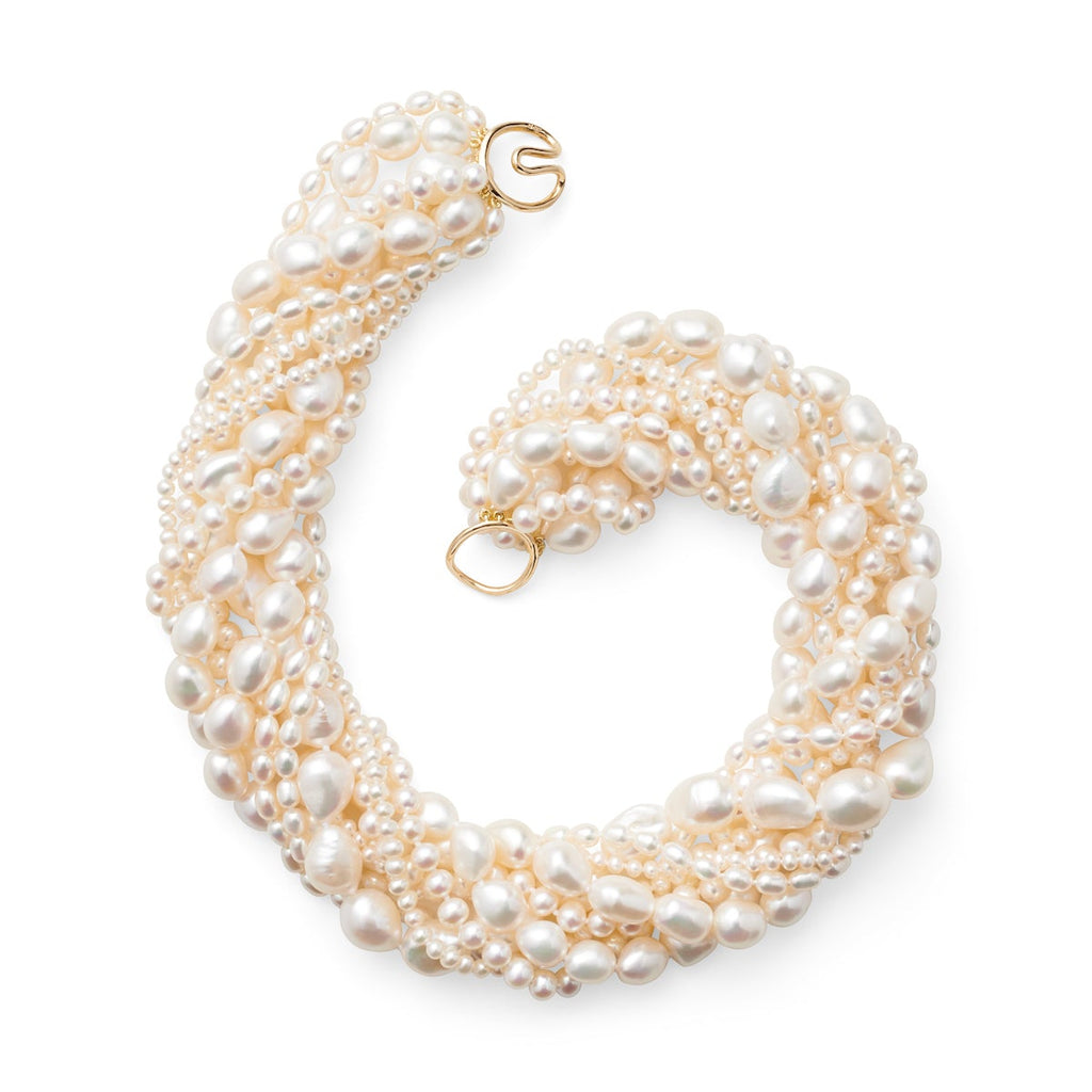 Eight-Strand Baroque Pearl Necklace