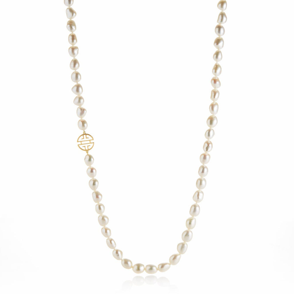 Baroque Pearl & Gold Shou Rope Necklace