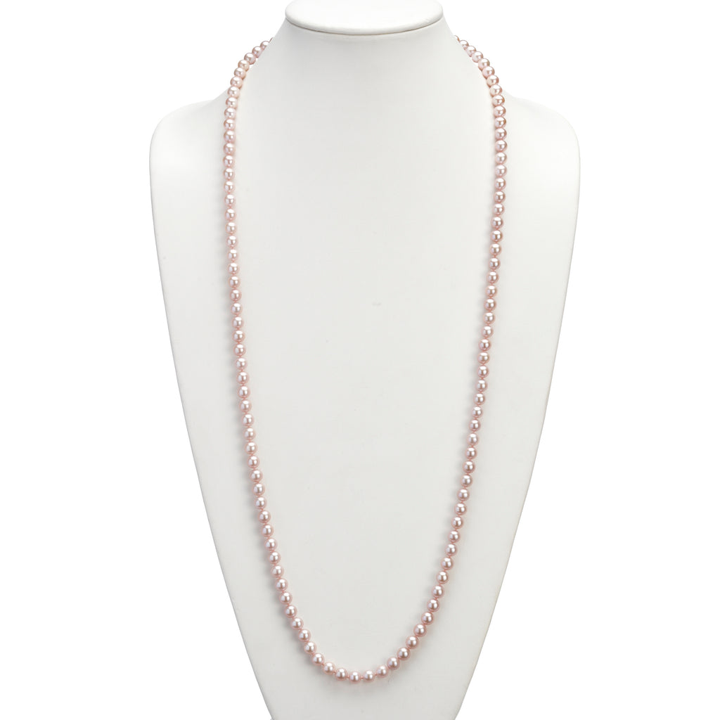 Pink Pearl Rope Necklace