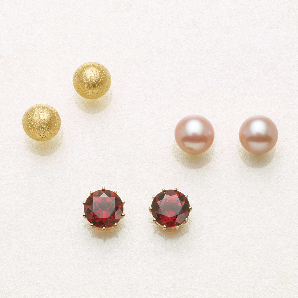 Child's 5mm Pink Pearl Earrings