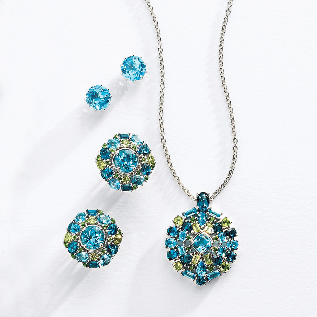Summer Jewel Cluster Earrings