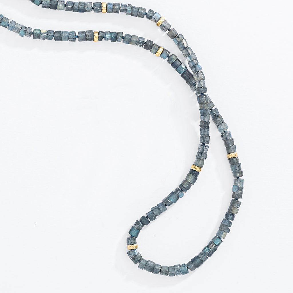 Labradorite & Gold Rope Necklace