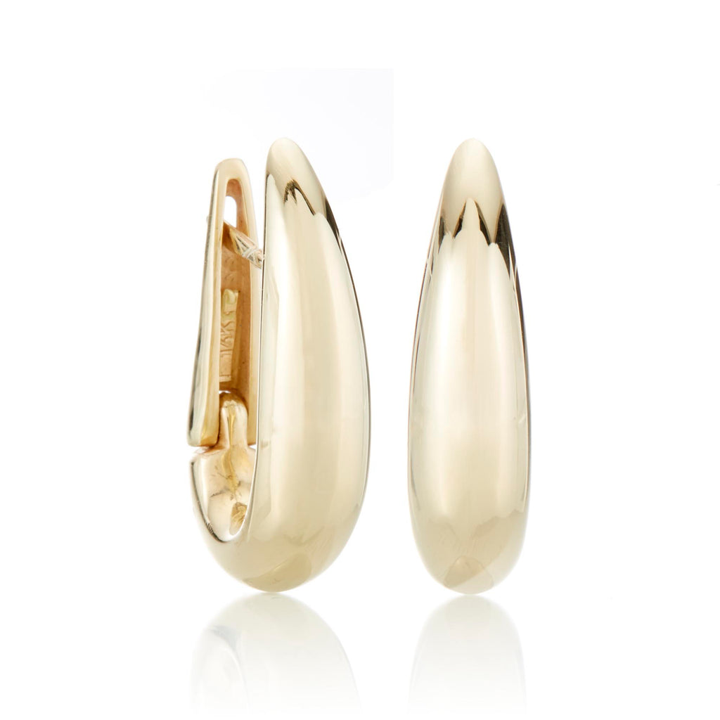EARRINGS 14KT YG POLISHED HOOP