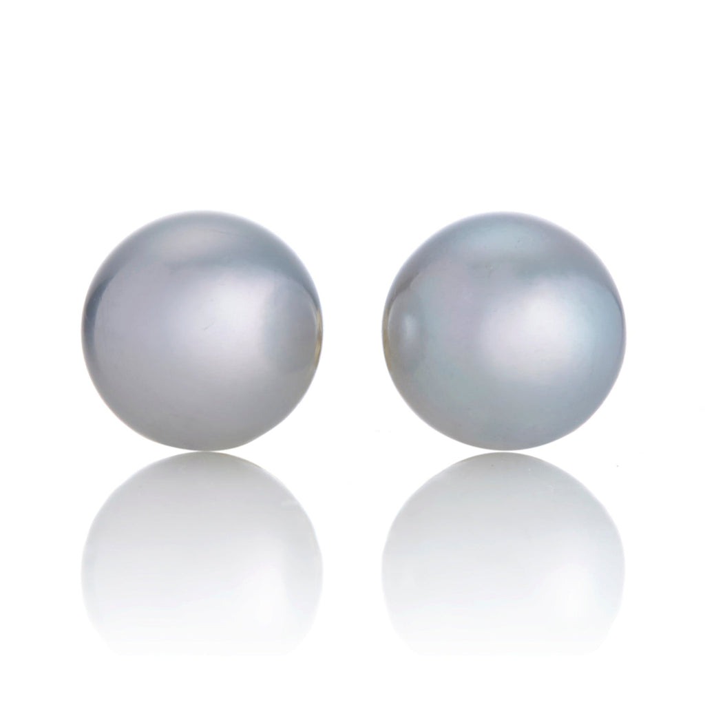 9mm Blue Akoya Pearl Earrings
