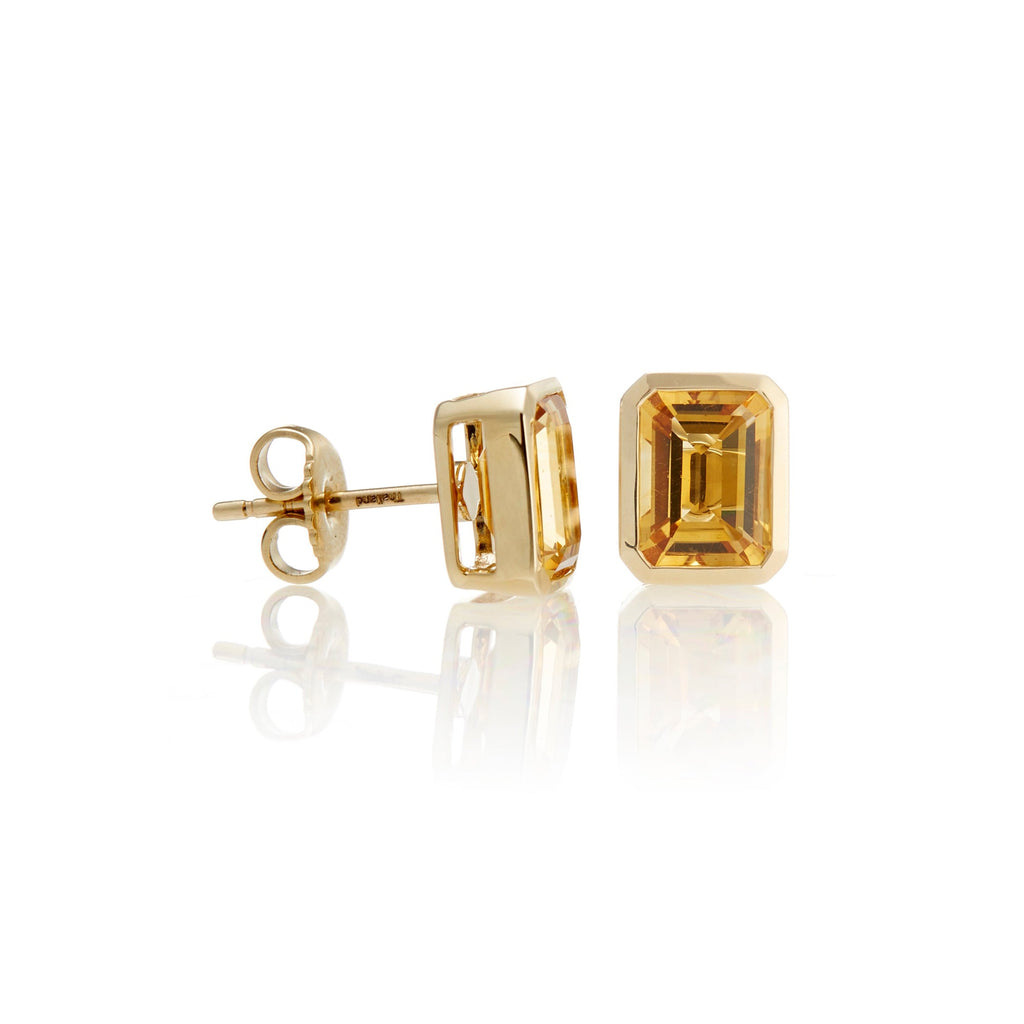 Bezel-Set Citrine Earrings