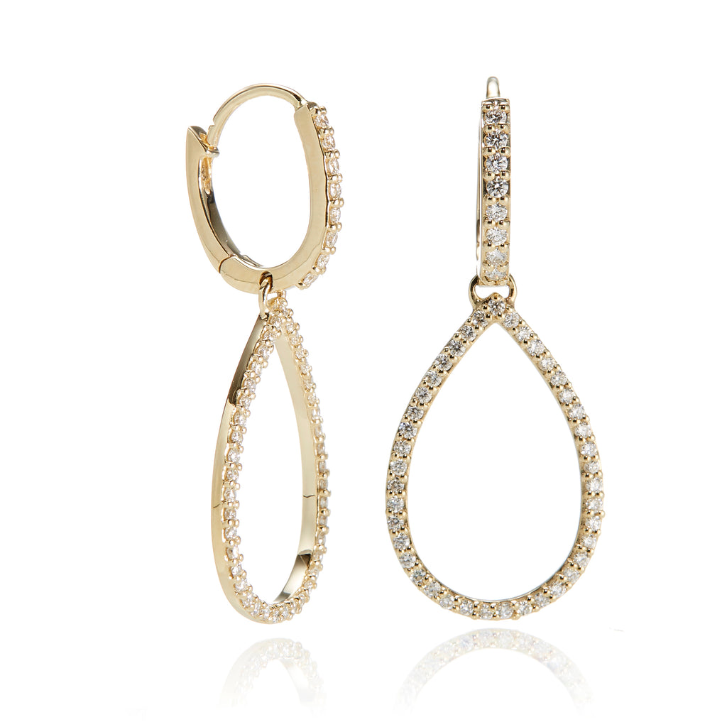 Openwork Diamond Drop Earrings