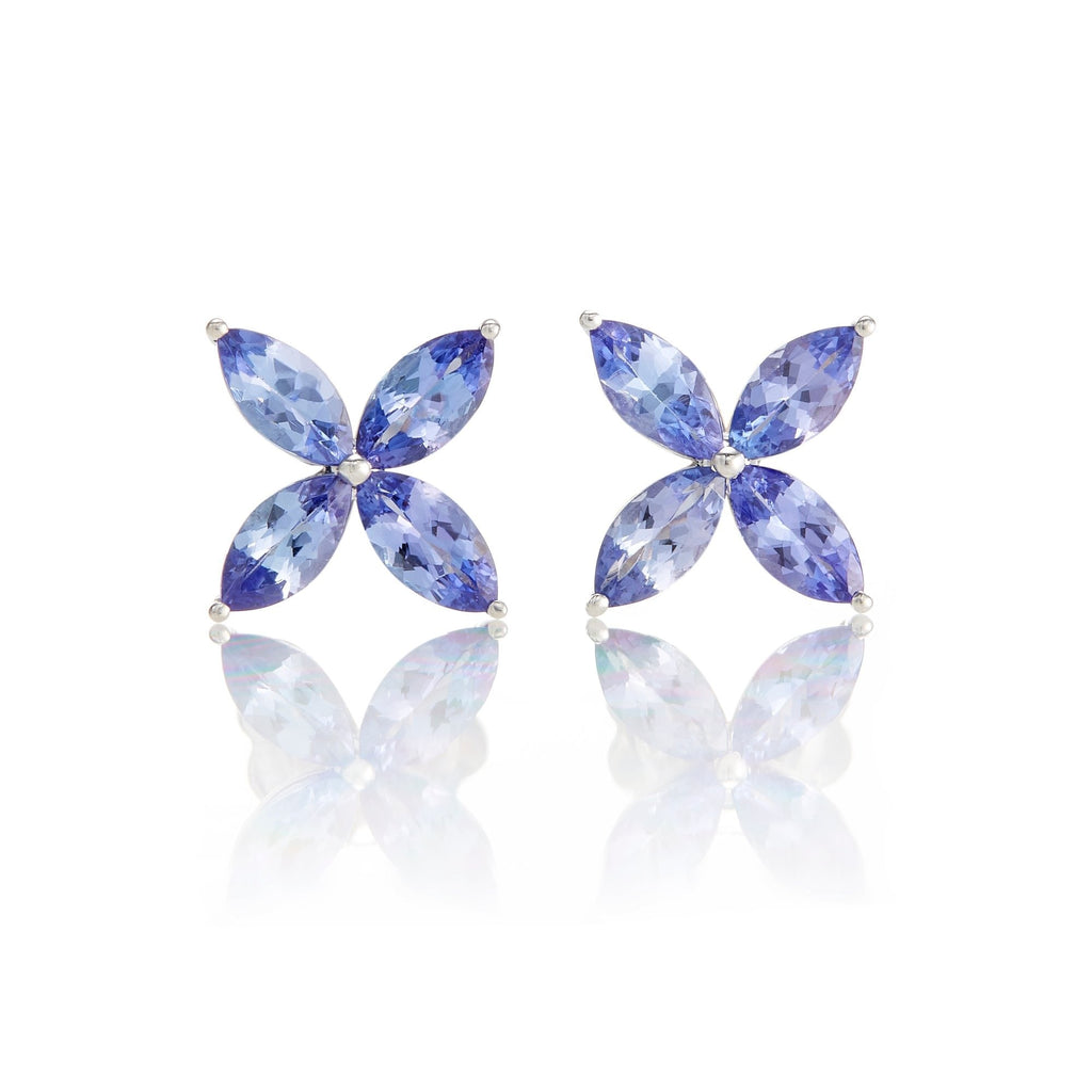 Tanzanite Marquis Star Earrings