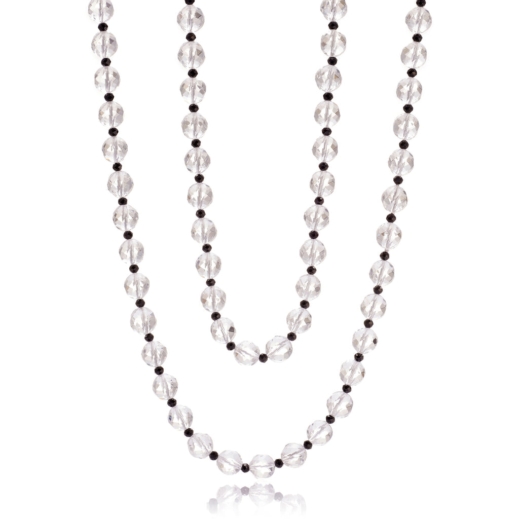 Faceted Crystal & Spinel Rope Necklace