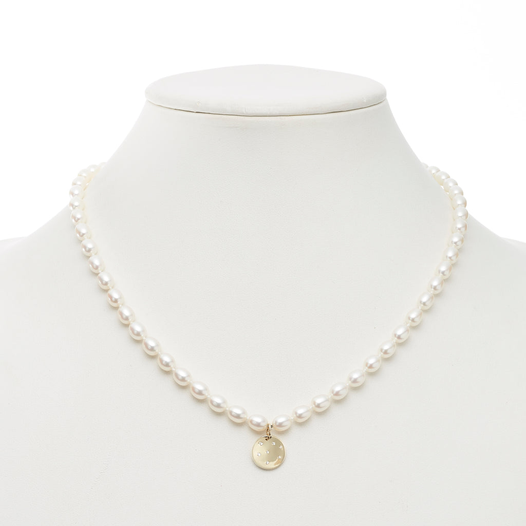 Baroque Freshwater Pearl & Gold Charm Necklace