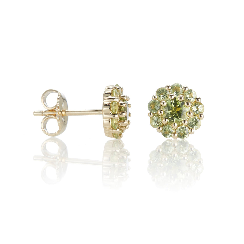 Pavé Peridot Floret Earrings