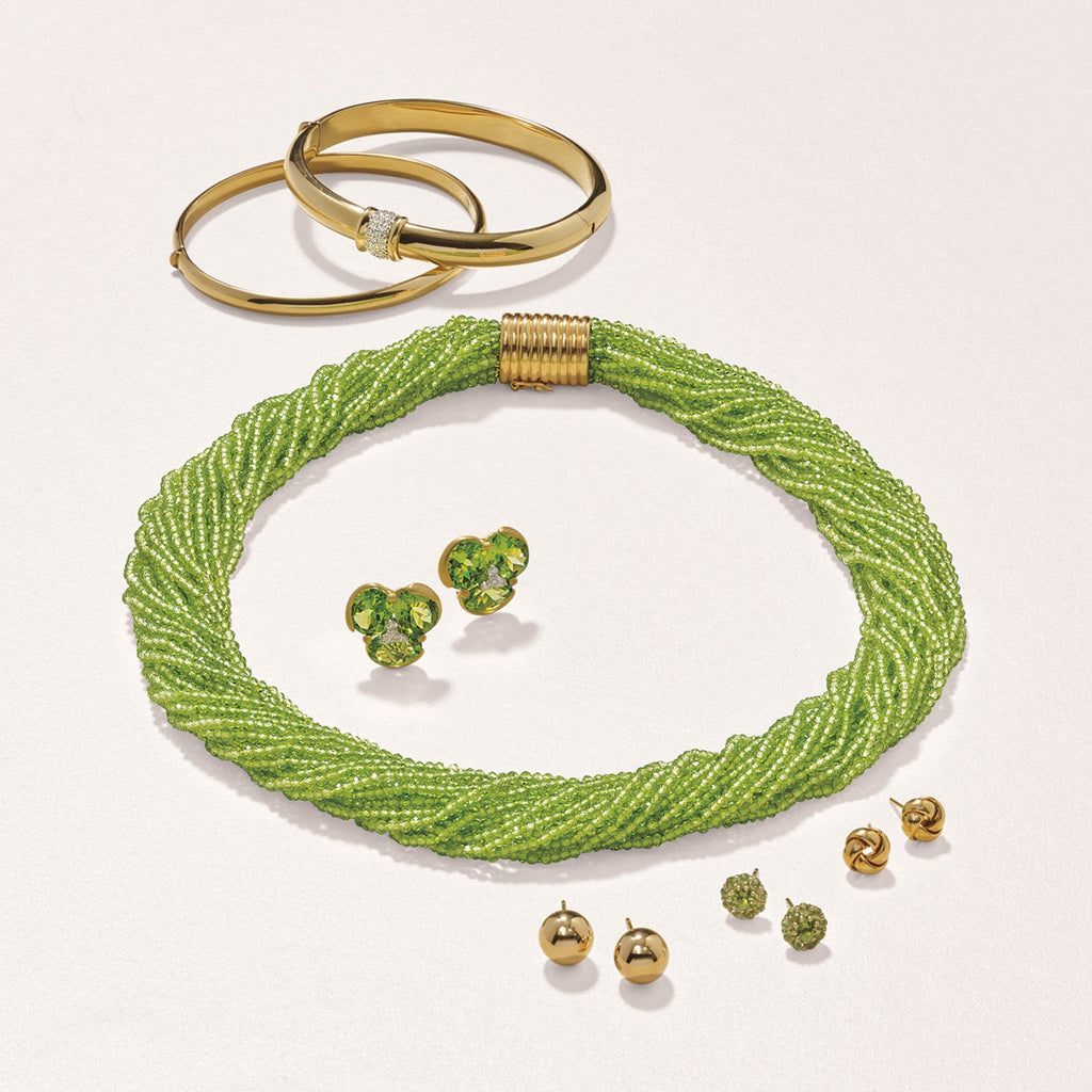 Gump's Signature Pavé Peridot Floret Earrings