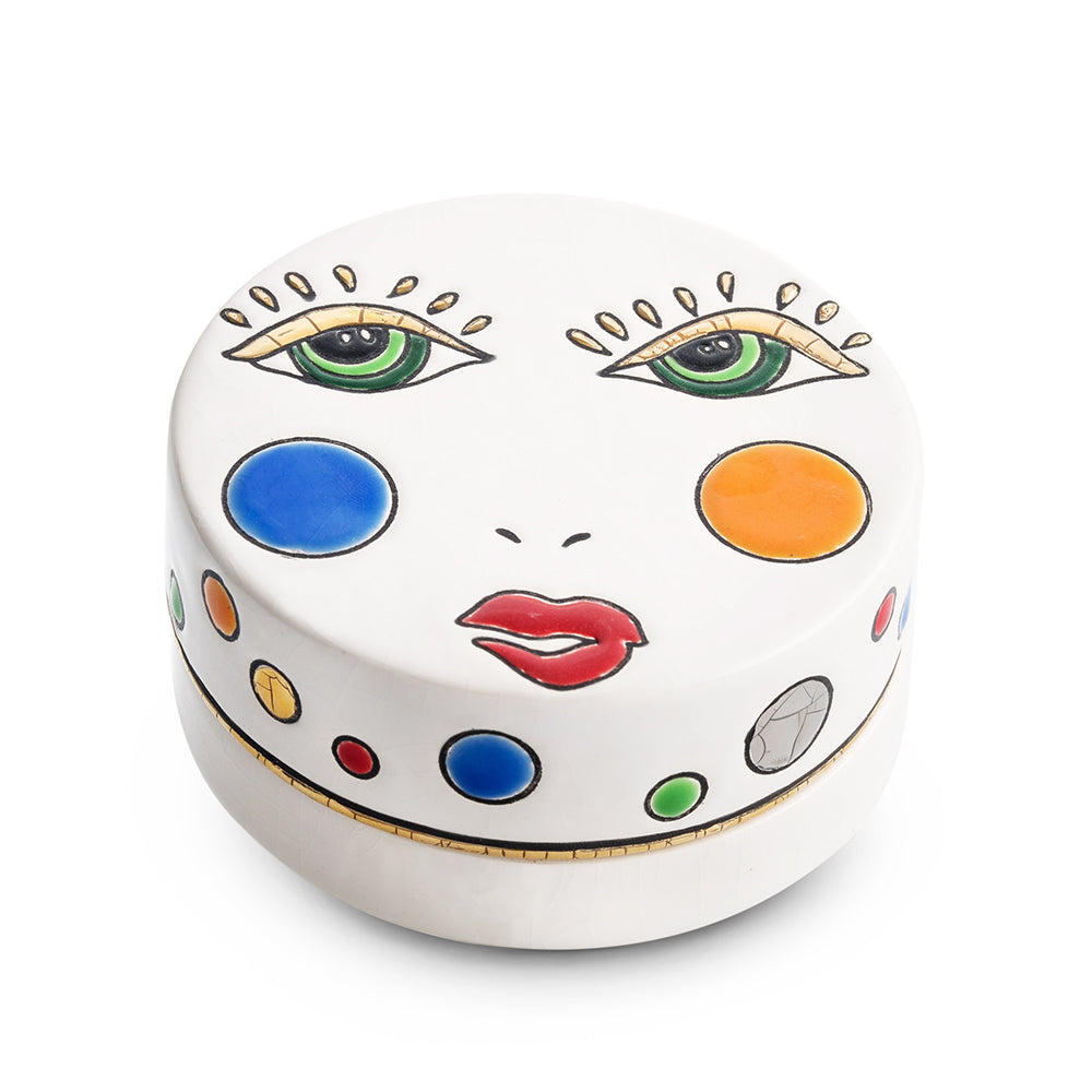 Happy Face Round Box, Small