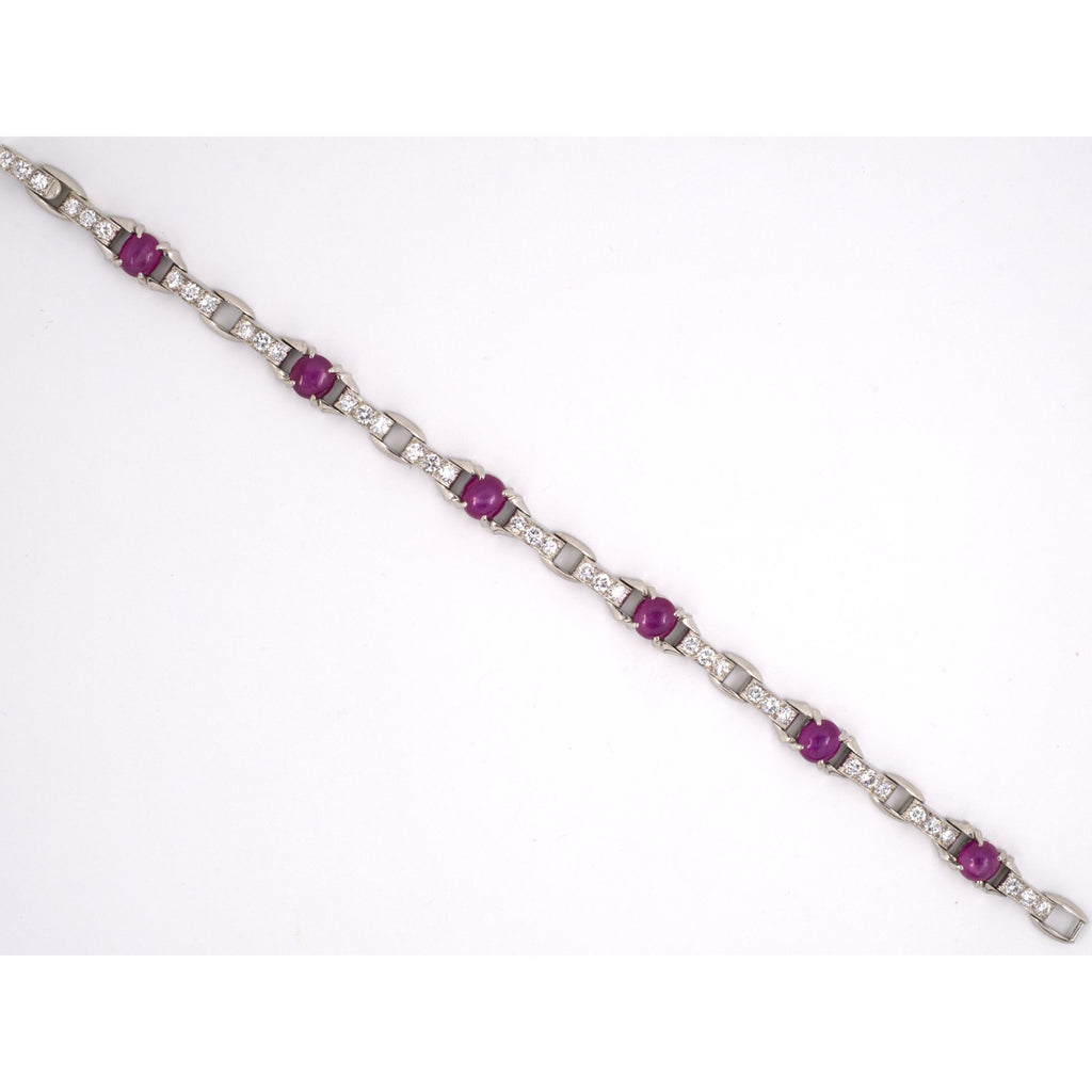 Platinum Tiffany Art Deco Ruby & Diamond Bracelet