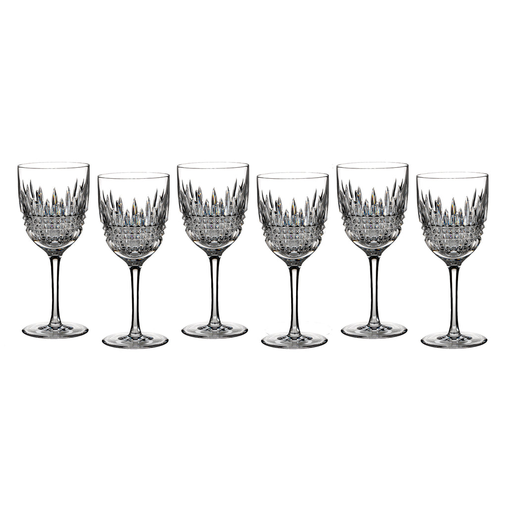 Waterford Lismore Diamond White Wine Glass Set  6