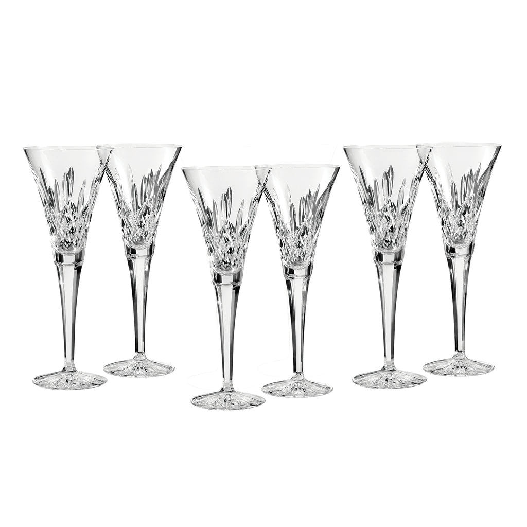 Waterford Lismore Toasting Flutes, Set of 6