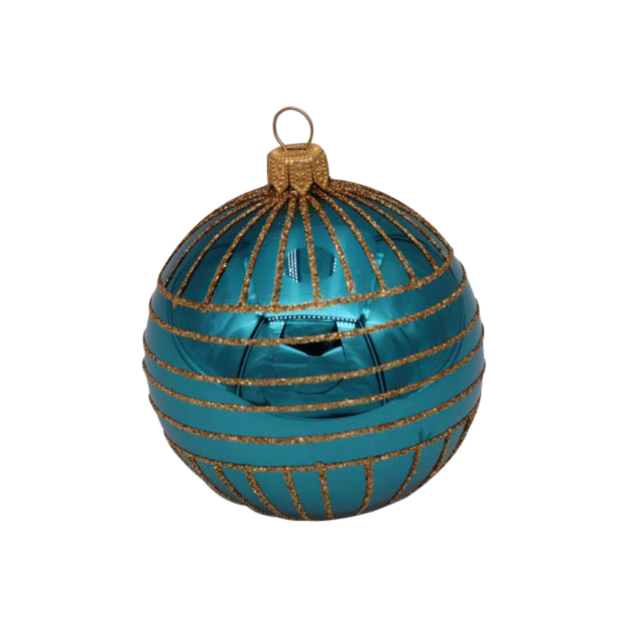 Turquoise with Gold Detail Ornament
