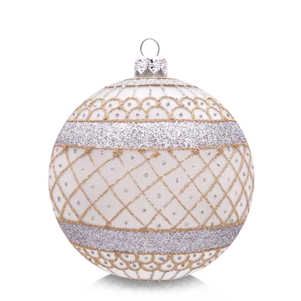 Silver Lace Ornament