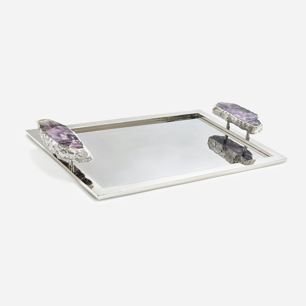 Heritage Tray With Amethyst Handles