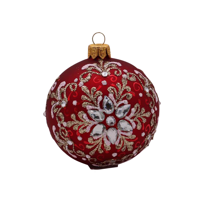 Red with Stones Ornament
