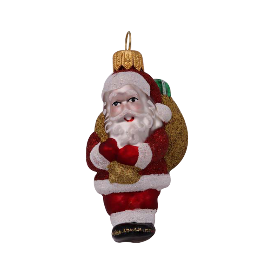 Mini Santa with Sack Ornament