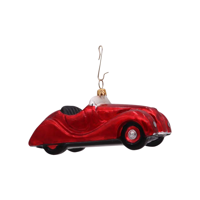 Red car ornament
