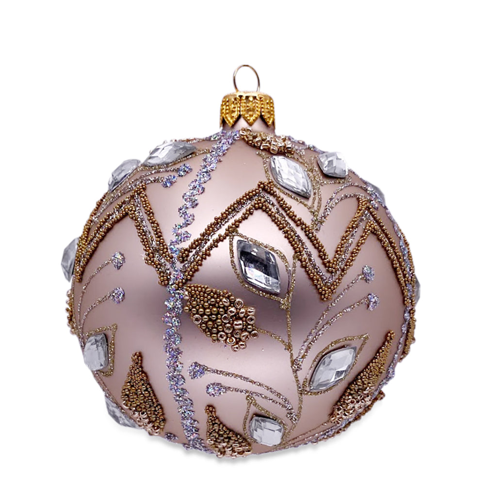 Champagne Ball with Glitter Ornament