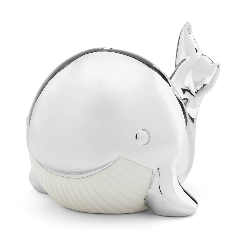 Reed & Barton Mystic Sea Whale Coin Bank