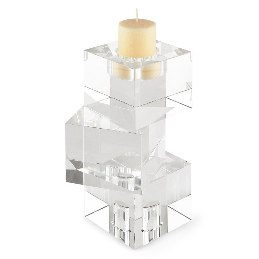 Cubes Crystal Candleholder, Medium