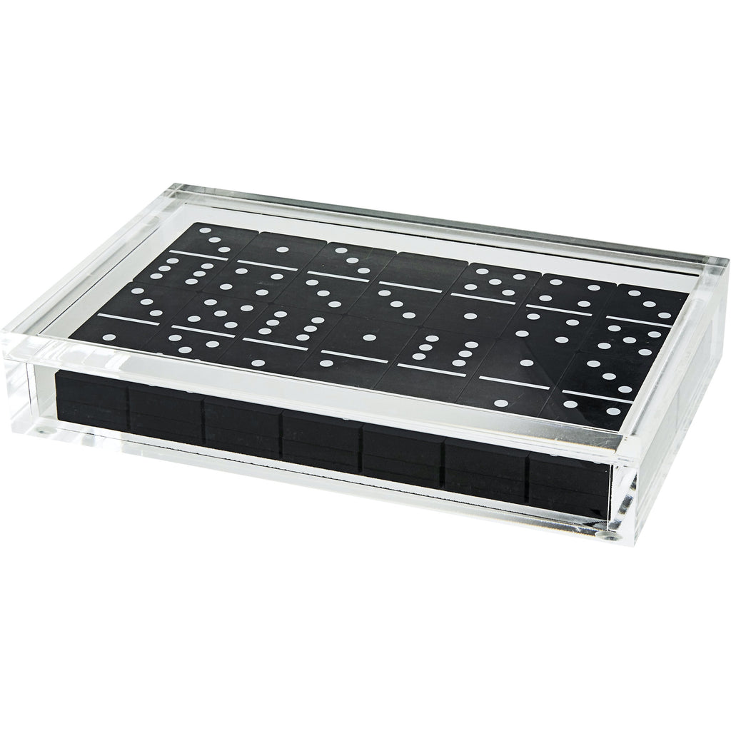 Lucite Black Dominoes Set