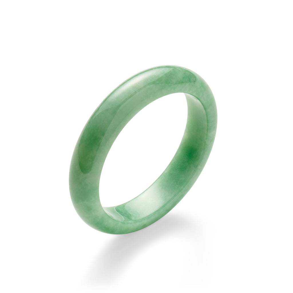 Green Jade Flat Bangle