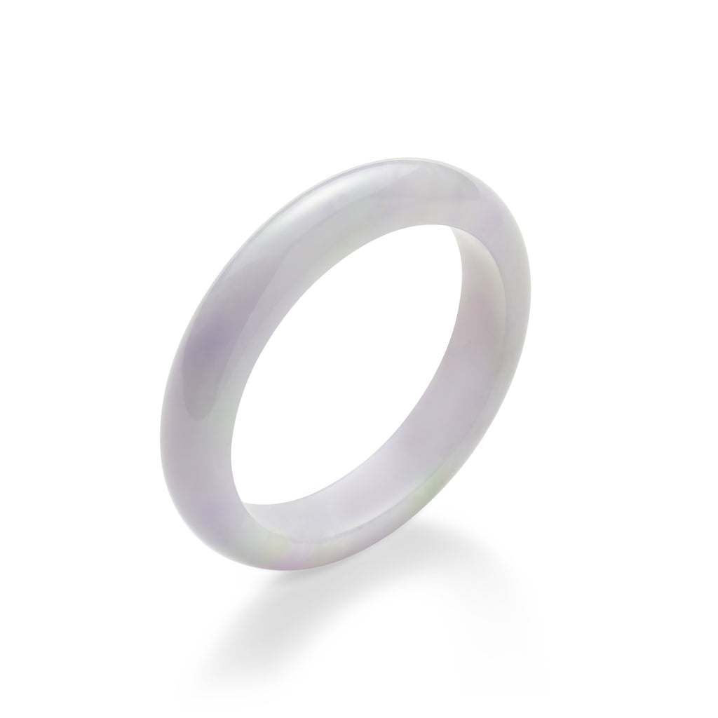 Icy Lavender Jade Bangle