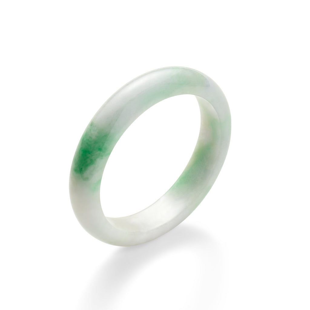 Mottled Green & Lavender Jade Bangle