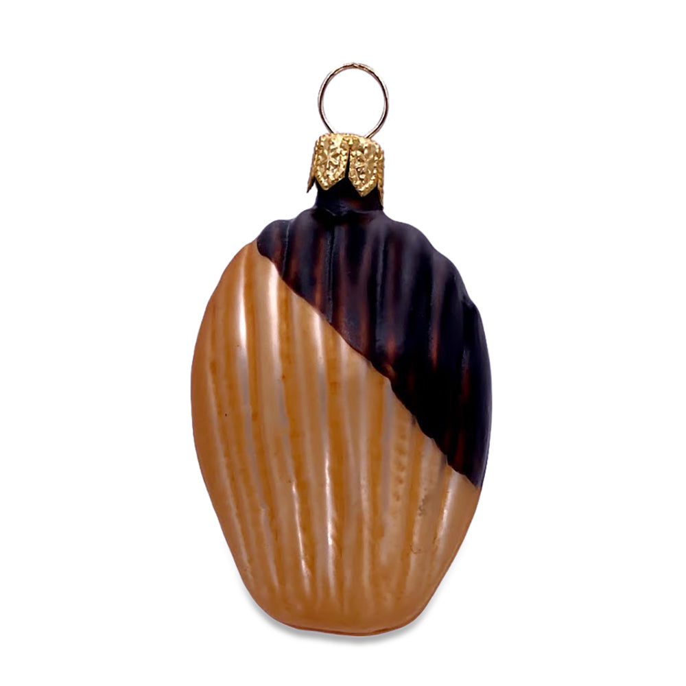 Chocolate-Dipped Madeleine Ornament