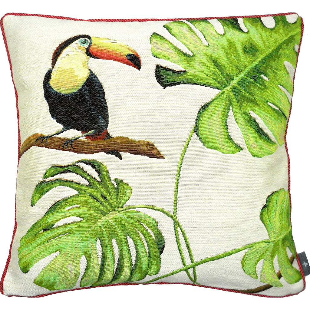 Toucan Bird Tapestry Square Pillow