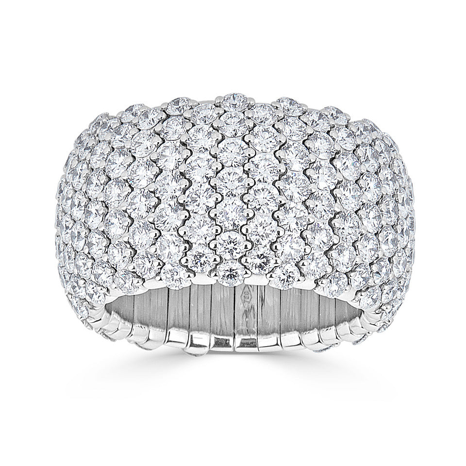 Pavé Diamond & White Gold Ring