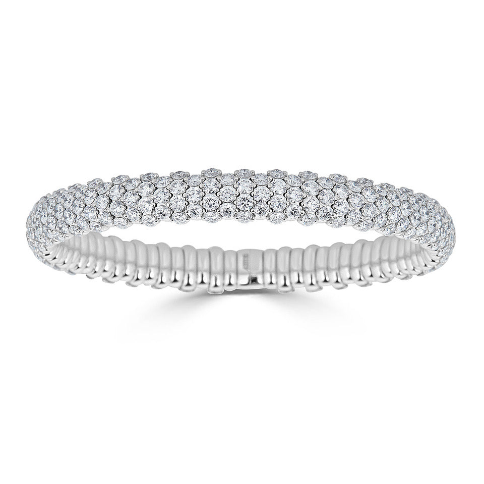 Pavé Diamond Stretch Bracelet In White Gold