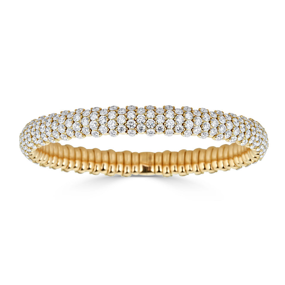 Pavé Diamond Stretch Bracelet In Yellow Gold