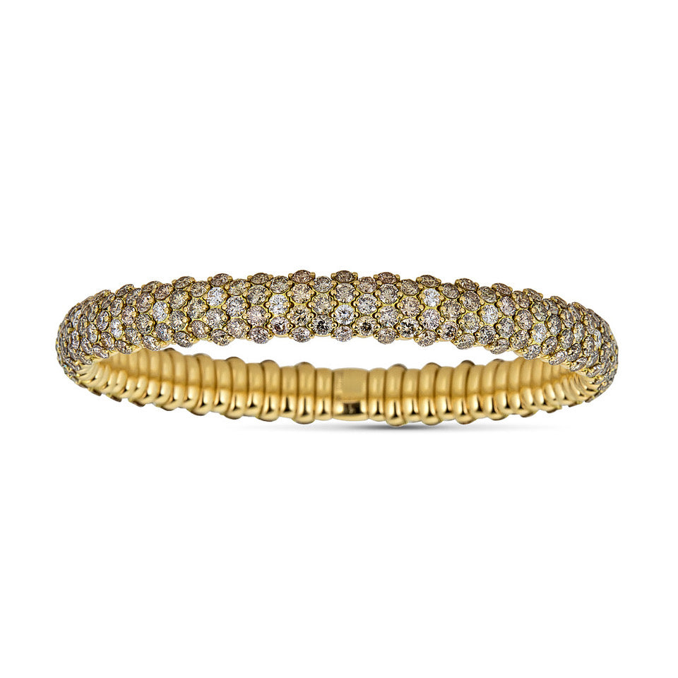 Cognac Diamond Stretch Bracelet