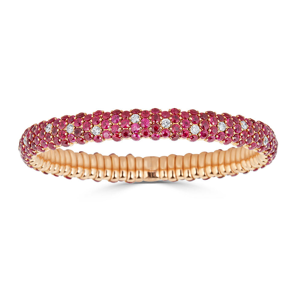 Ruby & Diamond Stretch Bracelet