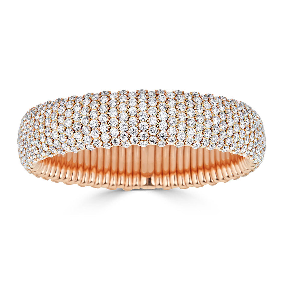 Pavé Diamond Stretch Bracelet In Rose Gold