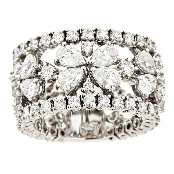 Floret Openwork Diamond Band