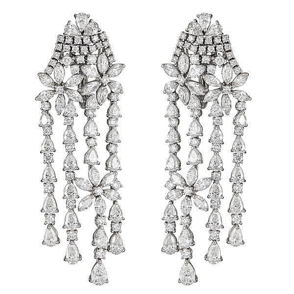 Zydo Dome Cascade Diamond Earrings