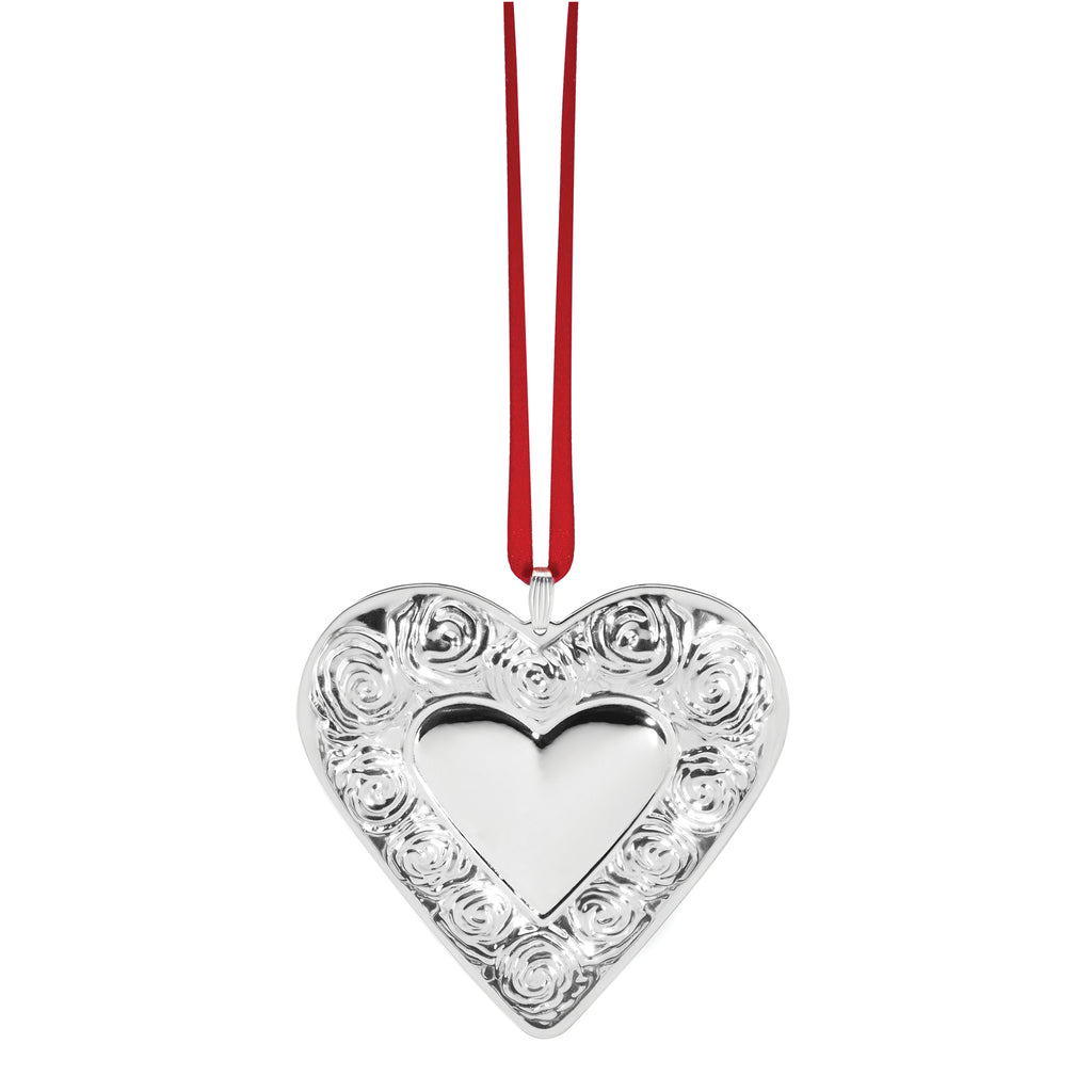 Sterling Silver 2020 Heart Ornament